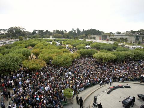 Outside Lands Music Festival in Golden Gate Park in San Francisco, California