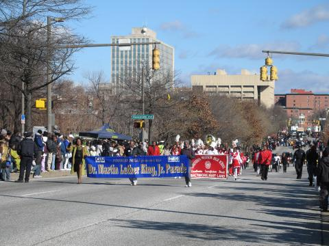 The annual Dr. Martin Luther King Jr. Parade in Baltimore, Maryland