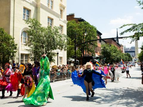 The Baltimore Pride parade and festival, a tradition for more than 35 years, attracts an estimated 30,000 people