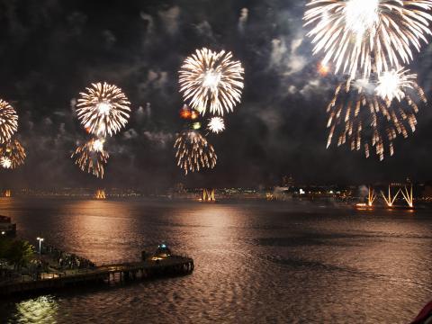 Macy´s Feuerwerk zum Unabhängigkeitstag