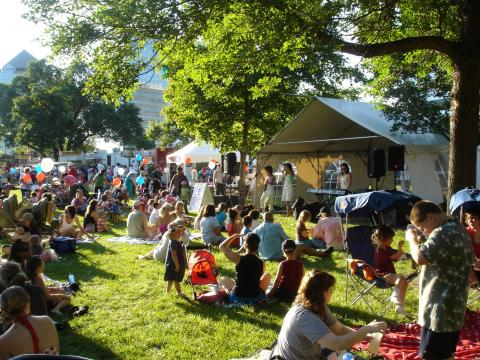 Music and picnicking at Summer Fete